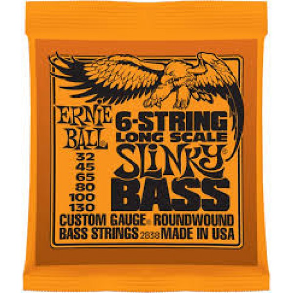 ERNIE  BALL  2838  6-STRING  LONG  SCALE  SLINKY  BASS