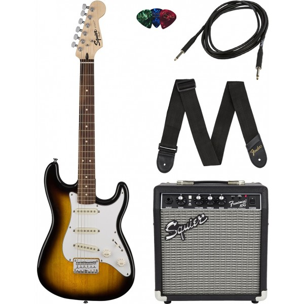 FENDER Squier Stratocaster  Pack 10G Brown Sunburst