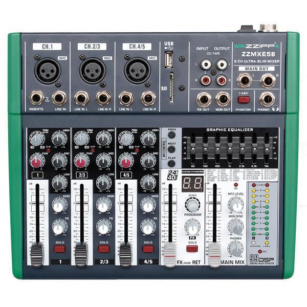 ZZMXE5B - Mixer compatto 5 canali